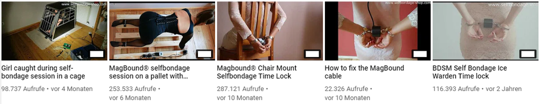 Selfbondage-Shop YouTube Kanal