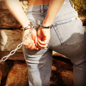 Oh I beg you can I follow  #selfbondage  #slave  #bdsm  #cuffed  #bdsmrelationship  #bdsmcouple  #sexpositive  #cuffedgirl  #chainedgirl  #chains  #chained  #sexyjeans  #bondage  #bravesmädchen
