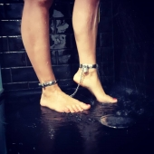 When the day is over but the night is young #bdsm #bondage  #bravesmädchen  #bdsmrelationship  #sexyfeetandtoes  #sexpositive  #sexycuffs  #slave  #selfbondage  #cuffed  #feetfetishworld  #showertime